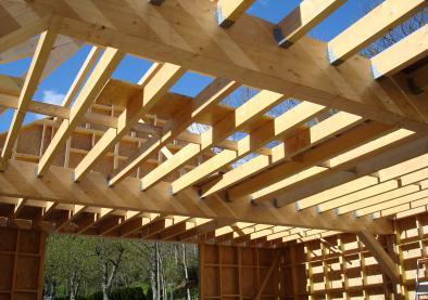 Maison Ossature bois à Marcols les Eaux (07) - Pose de charpente Lyon Rillieux