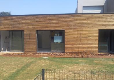 Création de Bardage bois à St Cyr au Mont d'Or