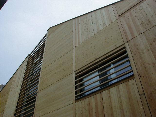 Habillage façade en bardage bois CP