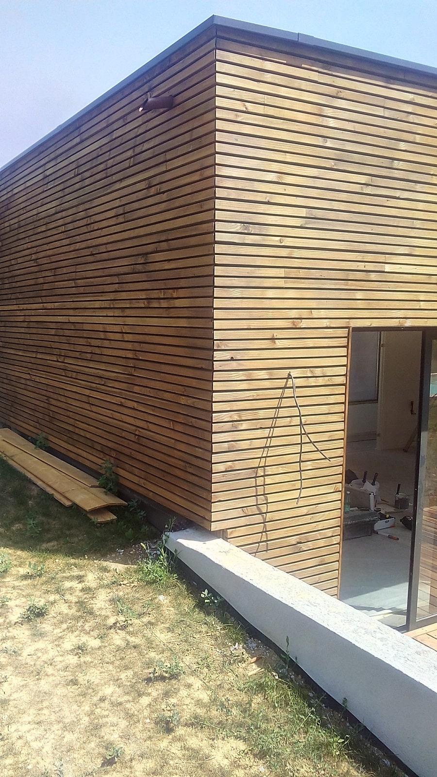 Bardage bois à St Cyr au Mont d'Or