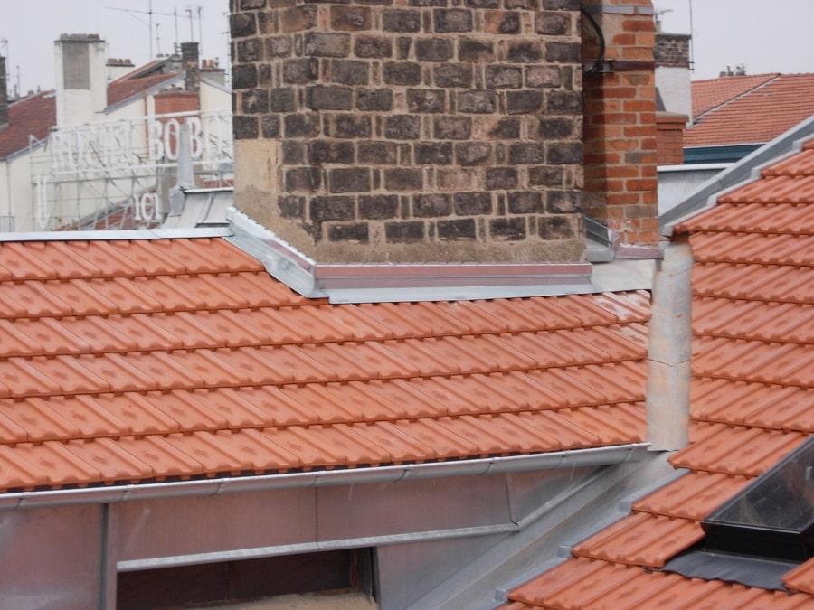 Zinguerie Couverture tuiles losangées - Quai V Augagneur LYON
